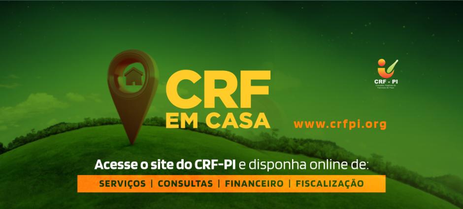 CRF EM CASA: Conselho disponibiliza seus serviços de forma online